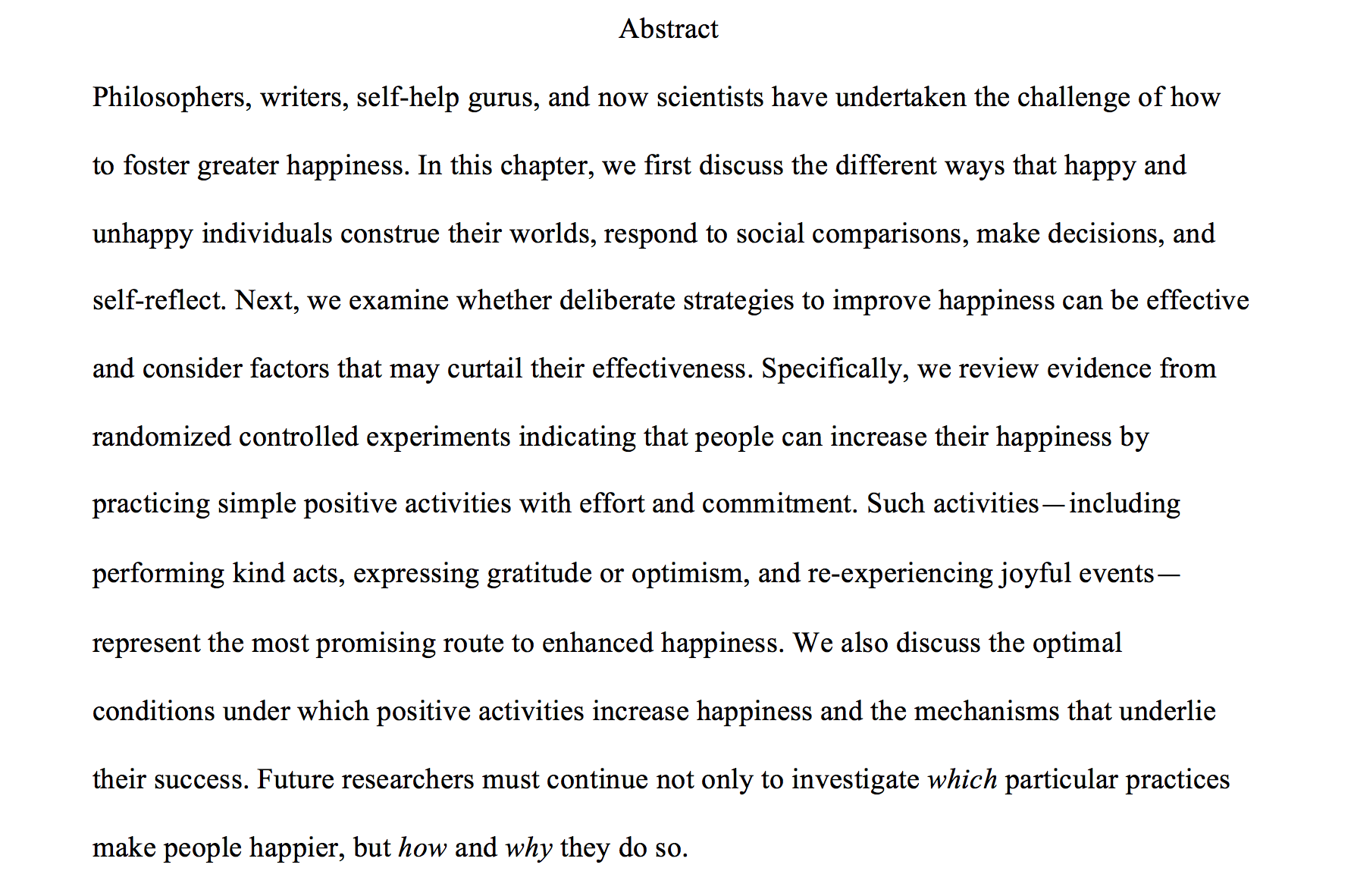 english essay on science and human happiness